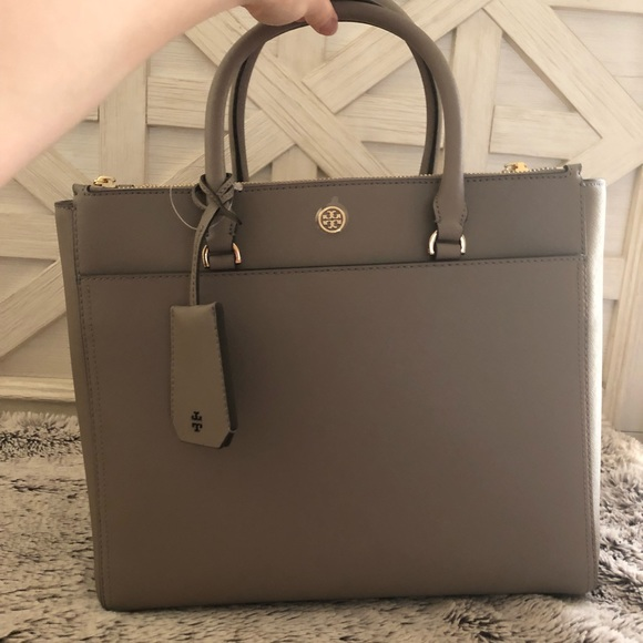 dc30e7d71b42 Tory Burch Large Robinson Double ZIP Tote Bag